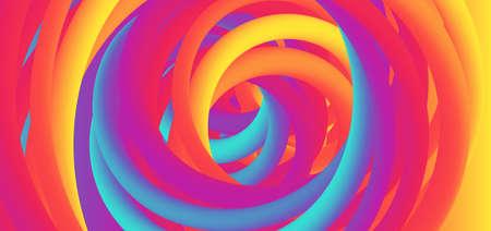 Colorful background rainbow design swirl curve shape art concept. vector illustration. Иллюстрация