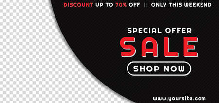 Black friday sale concept overlap circle shape design with space for product image. vector illustration.