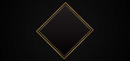 Square frame design black background overlap pattern style. vector illustration. Иллюстрация