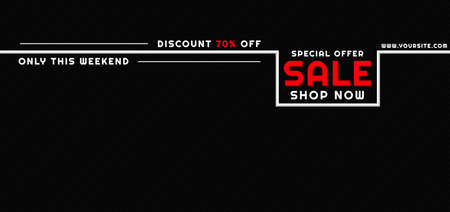 Sale banner black friday design white line and pattern background with space. vector illustration.