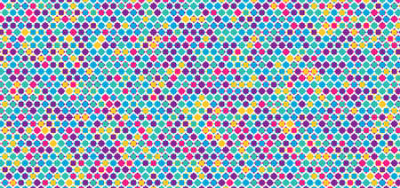 Retro colorful star shape overlap pattern design abstract background. vector illustration.