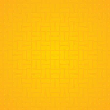 Line overlap pattern design halftone yellow banner. vector illustration.