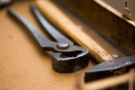 Close up shot of hand tools