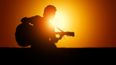 adulation: Playing guitar