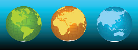 southern: Earth - vector illustration in three colors - easy scalable and rotatable. Illustration
