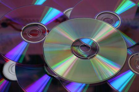 cds: Heap of CDs and DVDs.