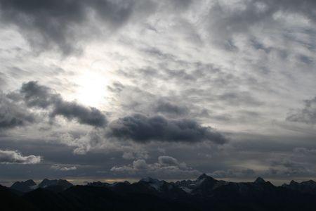 hellish: Dark sky in the mountains