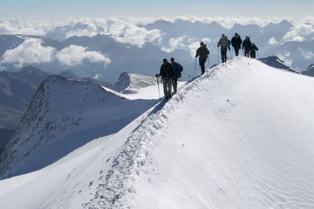 Climbers in high mountains Stock Photo - 842844