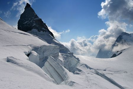 crevasse: Mountain glacier scenery