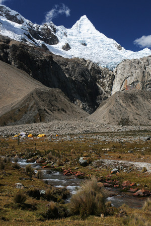 alpamayo: Alpamayo peak, Peru Stock Photo
