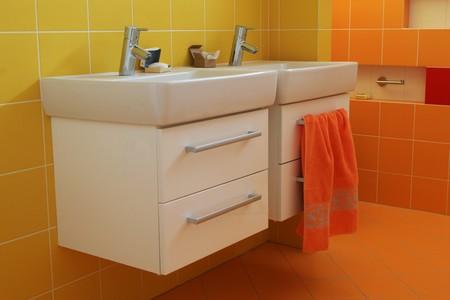 Washbasin in modern bathroom