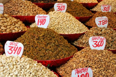 Nuts ad raisins Stock Photo - 5275678