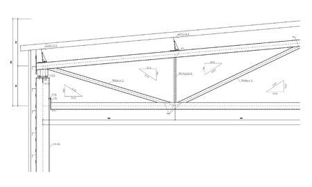 truss: Construction drawing, steel truss