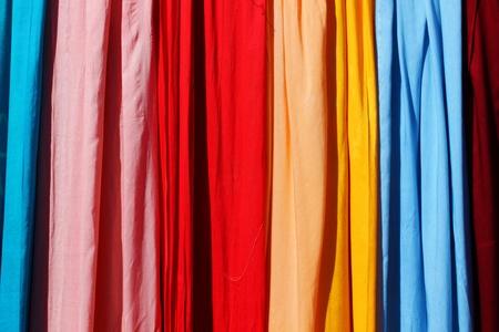 scarves: Range of pastel colored scarves, textile backgound
