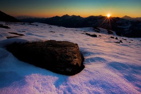 hohe tauern: Sunrise in Hohe Tauern National Park in Austria