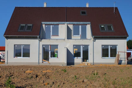 periphery: Construction of semi-detached houses in the suburbs