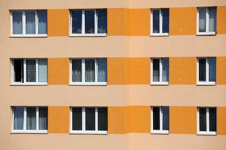 Newly insulated panel house facade with bright colors Stock Photo - 11534704