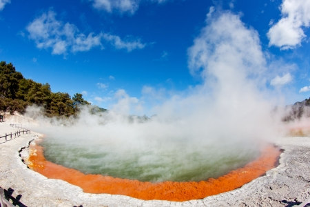 Thermal pool in Waiotapu, Rotorua, New Zealand