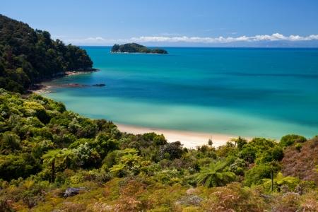 tasman: Coastal scenery in Abel Tasman NP, New Zealand Stock Photo
