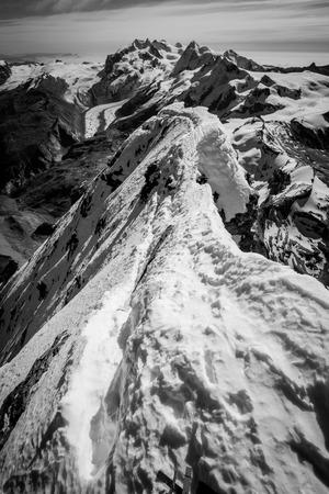 wallis: Wallis Alps from the top of Matterhorn (Monte Cervino)