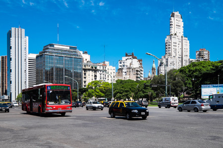 aires: Traffic in Buenos Aires, capital of Argentina