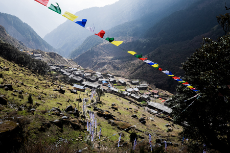 nepali: View of old Nepali village in remote area of the Himalayas