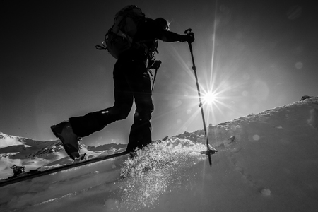 touring: Ski touring ascent – Great winter day in the mountains