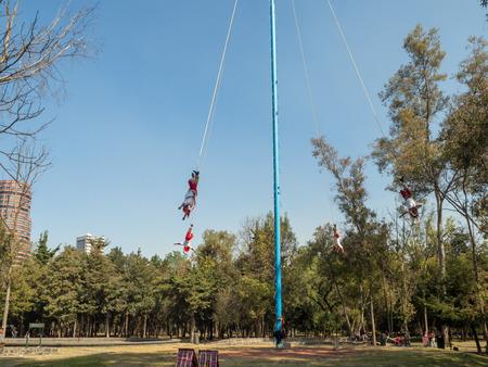 Mexico City, Central America, January 2018 [Danza de los Voladores (Dance of the Flyers), Palo Volador (flying pole), ceremony, ritual]