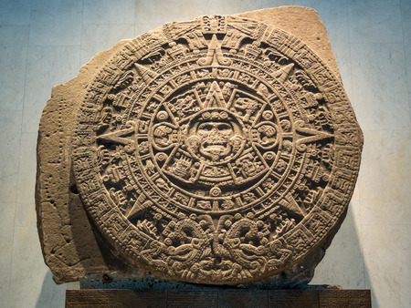The Mayan Calendar, Inca, Aztec, Prediction of the end of the world in 2012, picture taken in January 2018