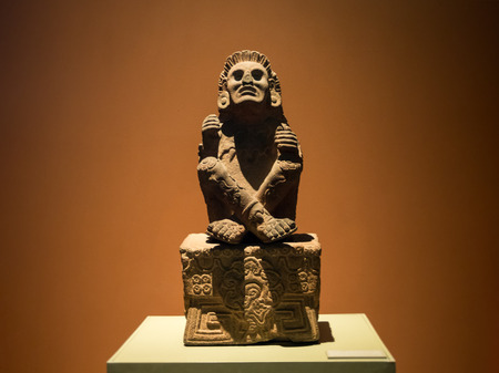 Mexico City, Central America, January 2018[The National Museum of Anthropology, ancient Aztec Mayan artifacts ] Editorial