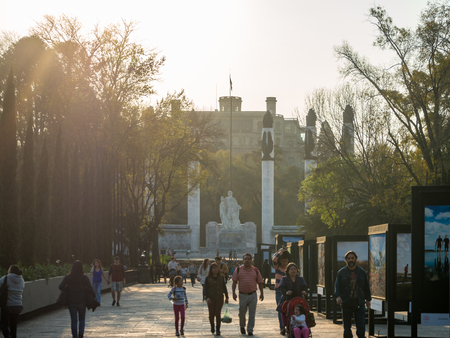 Mexico City, Central America, January 2018 [Colonial Chapultepec Castle, views, hill, park] 新聞圖片