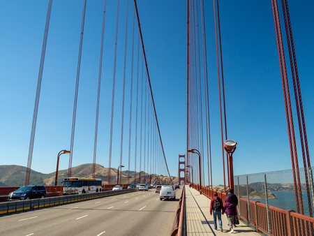 SAn Francisco, California, USA - July 2018: Golden Gate Bridge, Strait and National Recreation Area Sajtókép