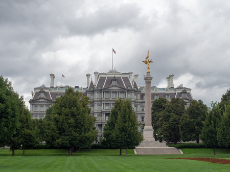 Washington DC, District of Columbia, Summer 2018 [United States US, Old Eisenhower Executive Office Government Building, General Services Administration, Executive Office of the President and Vice President ] Stock Photo