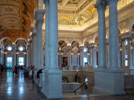 Washington DC, District of Columbia, Summer 2018 [Library of congress, main reading room and Great Hall interior]