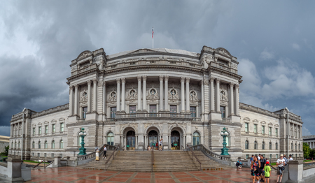 Washington DC, District of Columbia, Summer 2018 [Library of congress, building exterior on Capitol hill]