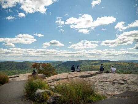 Bear Mountain State Park, Perkins Memorial Tower, Appalachian trail in upper state New York