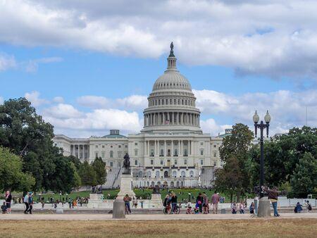 Waszyngton DC, Dystrykt Kolumbii [Stany Zjednoczone US Capitol Building, detal architektury]