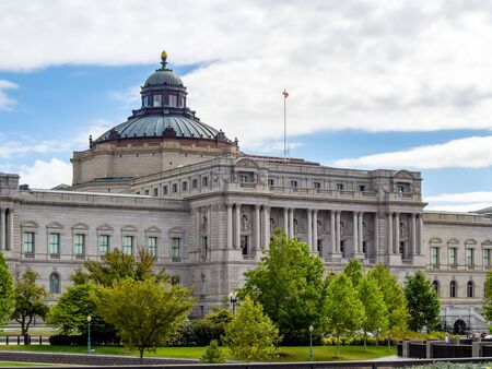 Washington DC, District of Columbia, United States of America [ Library of congress, building exterior on Capitol hill ]