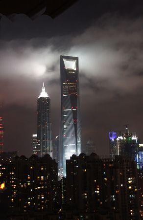 newest: Shanghai newest skyline addition at night