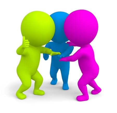 ni�os ayudando: Un grupo de gente colorida unir fuerzas y juntando las manos como un equipo