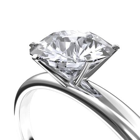 anillo de compromiso: Anillo de diamantes de imagen Foto de archivo