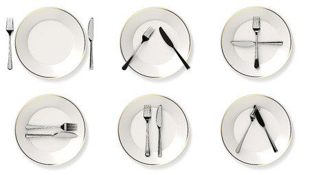 protocol: Protocol cutlery Stock Photo