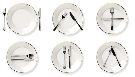 Protocol cutlery Foto de archivo