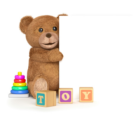 top animated: Teddy bear with a panel