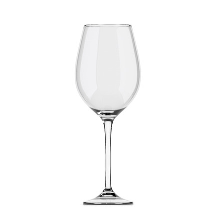 empty wineglass isolated