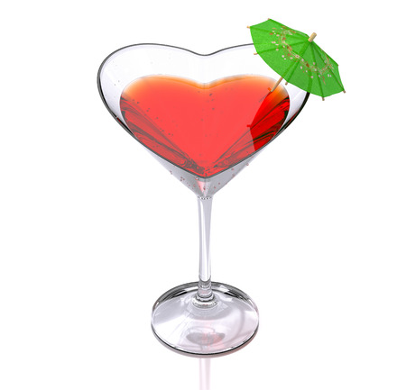 sweet heart: cocktail of love Stock Photo