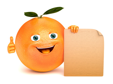 advertize: orange with a sign
