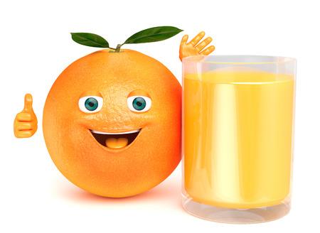 orange fruit: orange juice Stock Photo