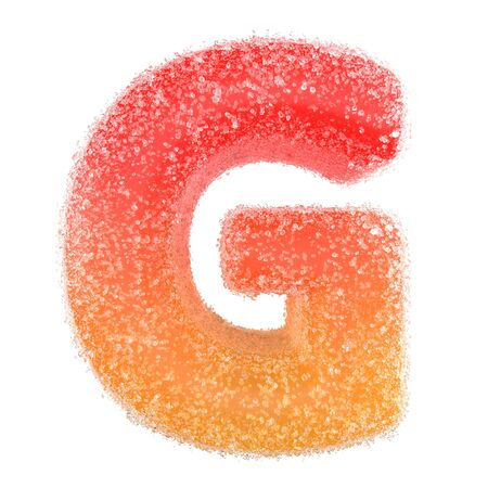 G - Letter of the alphabet made of candy