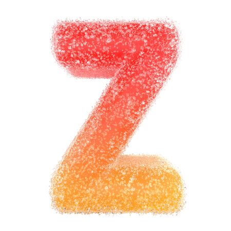 Z - Letter of the alphabet made of candy